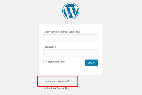 How to Recover a Lost Password in WordPress
