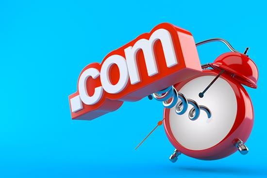 Choose the .com Domain