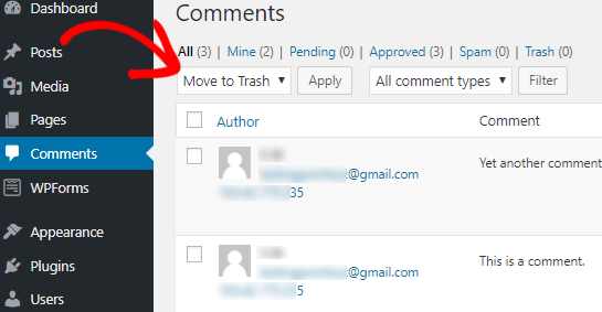 Disable Comments on Pages