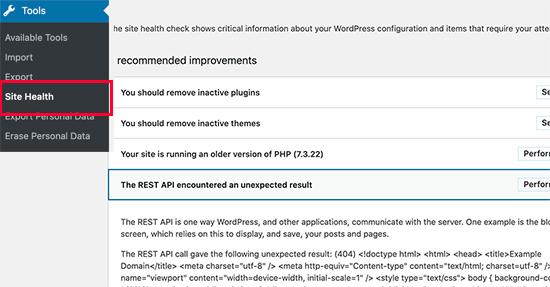 Check REST API Status